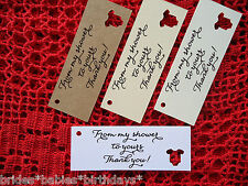 10 Kraft Cream Gift Tags Baby Shower Favour Bomboniere From my shower to yours