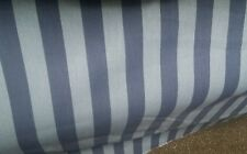 """Striped Blue Poly / Cotton Percale Tailored Bedskirt 14"""" drop - Daybed / Bunkbed"""