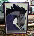 1987 Dumas Patrick Nagel NC 13 Girl Horse Mirage Edition Serigraph Print Framed