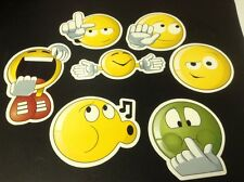 Emoji large Stickers Lot of 6 New