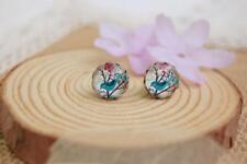 Vintage Cute Blue Bird Vintage Stud Earrings Beautiful Gift UK Ladies