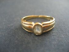 Vintage Handmade Solid 9k Yellow Gold & Blue Topaz Ring 9 carat ABT2259440