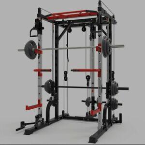 128KG Smith machine steel squat rack gantry frame