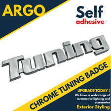 Chrome Tuning Badge Silver 3d Emblem Decal Sticker Self Adhesive Silver Shine