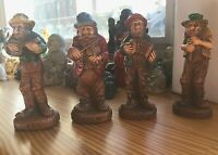 Syroco HILLBILLY BAND. Ben, Clem, Lem, Pete. Hand Painted. 1940s.
