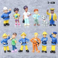 Fireman Sam Elvis Penny Action Figure Cute Cartoon Doll Toys Cake Topper 12 PCS