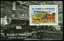 S.TOME E PRINCIPE - 1989 'PINTURA COMBOIO' Miniature Sheet CTO [A8472]