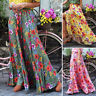 UK Womens Oversize Skirts Long Maxi Casual Loose Floral Elastic Waist Dress Plus