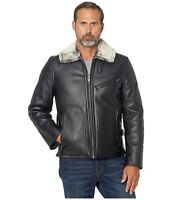 Marc New York Lenox Faux Leather Jacket with Faux Fur Lining Medium Black