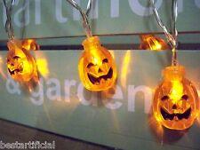 20 LED 3D Pumpkin Indoor 3M Battery Party Fairy Novelty Orange String Lights