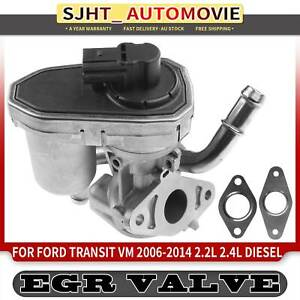 EGR Valve w/ Pipe Socket & Seal for Ford Transit VM 2006-2014 2.2 2.4L PHFC H9FB