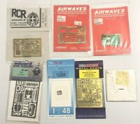 Lot of 7 Extra Tech Metal Parts Hobby Plane Model Accessories 1/72 Scale T50