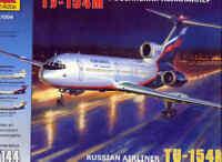 Zvezda 1/144 Tupolev tu-154m #7004