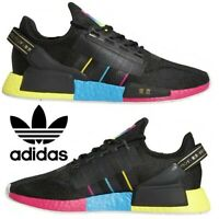 Adidas Originals NMD R2 Men's Sneakers Casual Shoes Running Black Pink Blue