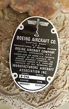 Boeing B-29 Aircraft Data Plate WW2 acid etched aluminum