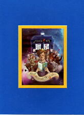 DR WHO - 50 YRS CELEBRATION PRINT PROFESSIONALLY MATTED