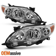 New Pair 2011 2012 2013 Toyota Corolla Headlights Replacement Lamps 11 12 13
