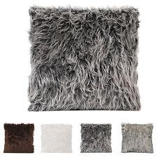 Faux Fur Plush Throw Pillow Cases Pillowcase Chair Sofa Waist Cushion Cover UK