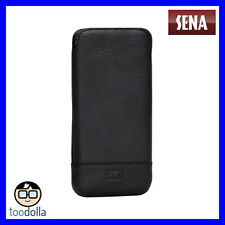 Sena Ultralim Heritage Genuine Leather Pouch For iPhone 8/7/6 Pixel Pixel BLACK