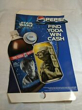 """1999 Star Wars FIND YODA WIN CASH Episode I 27"""" PEPSI Promotional Poster LACZ06"""