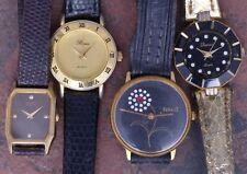 Lot of 4 Ladies Vintage Quartz Fashion Watches Seiko Ferret  Parts/Restoration