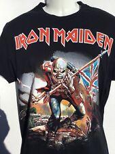 IRON MAIDEN - EDDIE The Trooper with BRITISH FLAG T-Shirt sz L large