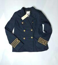 Denim & Supply Ralph Lauren twill Cotton WOMEN military Naval JACKET/BLAZER -XL