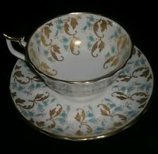 ROYAL CHELSEA TEA CUP AND SAUCER GOLD English Bone China Mint Cond.