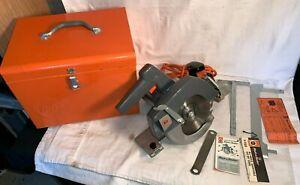 "Vintage B&D Black & Decker DELUXE CIRCULAR SAW U-230-1 + CASE 7 1/4""  ELECTRIC"