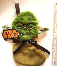 "Yoda Jedi Knight Star Wars Mini Christmas Stocking Velvet Plush Disney 8"" New"