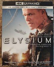 ELYSIUM 4K Ultra HD + Blu-ray w/ slipcover Matt Damon NO DIGITAL