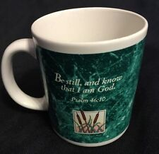 Beautiful Simple Christian Coffee Mug Psalm 46:10 Be still.. and Know That It ..
