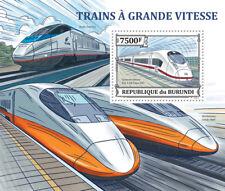Hochgeschwindigkeitszüge (Siemens Velaro) Burundi S/S Sc.1430 MNH #BUR13312b
