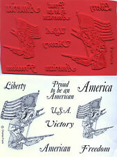 unmounted rubber stamps  Revolutionary American Flag & Soldiers  9 images