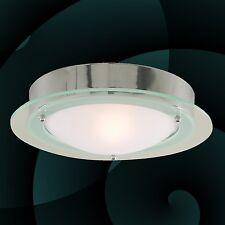 lumière de salle bain Plafonnier Applique murale lampe chrome verre Opale IP44