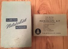 Vintage Britex Naturalist Child's Microscope with Accessory Kit both Boxed 1961
