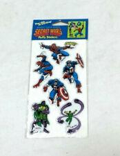 1984 Vintage Marvel Comics Secret Wars Spiderman Puffy Stickers Sealed Carded