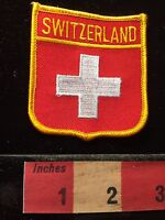 Country Of SWITZERLAND Flag Themed Patch ~ Swiss ~ White Cross 60CC
