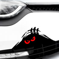 MONSTER RED EYES PEEPER Scary Funny Car,Bumper,Window DUB Vinyl Decal Sticker