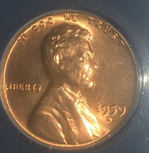 1959 D 1C LINCOLN CENT ANACS  MS66RD