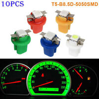 10pcs/pack T5 B8.5D 5050 LED Indicator Car Dashboard Side Light Bulbs Interior