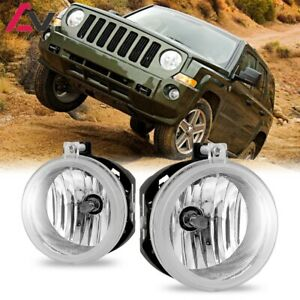 For Jeep Patriot 07-09 Clear Lens Pair Bumper Fog Light Lamp OE Replacement DOT