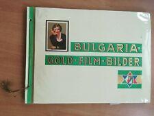 Zigarettenbilderalbum  BULGARIA GOLD FILM BILDER komplett im Schuber