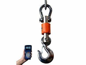 Wireless Crane Scale 300 Ft Heavy Duty Range Hanging Scale, 6000 Lbs X 1 Lb