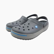 Crocs Crocband 2 II Mens Lightweight Clogs Summer Sandals UK 12 Grey BNWT Slides