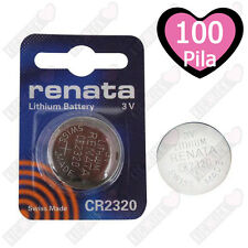 100 pz. CR2320 Renata Batteria, Pila al Litio, 150 mAh