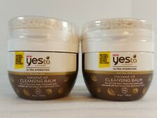 2 Yes to Coconut Ultra Hydrating Dry Skin Cleansing Balm 4 oz. Lot of 2 New