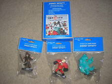 New Disney Infinity Nintendo 3DS Game, Base & 3 Figures Sulley Jack Sparrow ++