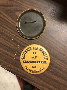 1960's University Georgia Sanford Stadium Concession Badge Worn For Georgia Tech