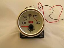 """2"""" Water Temperature Gauge White Face Chrome Bezel with Sender - Electronic"""